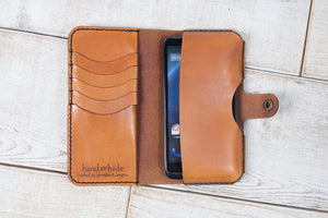 Hand and Hide Leather Phone Pouch Wallet | English Tan