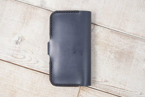 Leather Phone Pouch Wallet | Charcoal