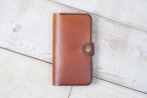 Leather Phone Pouch Wallet | Chestnut