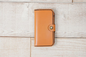 iPhone SE Leather Phone Wallet | English Tan