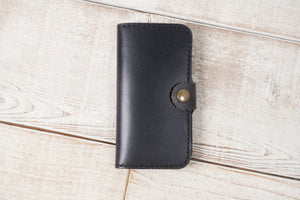 iPhone SE Leather Phone Wallet | Black