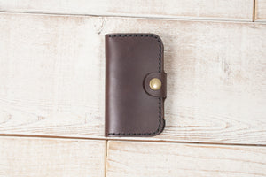 Hand and Hide Palm Leather Case | Dark Chocolate
