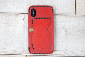 iPhone X Leather Case | Red