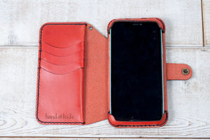 iPhone 11 Leather Flex Wallet | Red