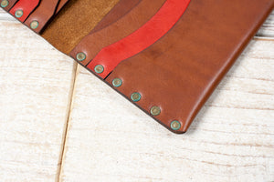 Long Wallet | Brown & Red