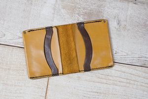 Medium Wallet Stitched | Sunrise & Dark Brown