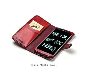 LG V20 Custom Wallet Case - Phone Wallet - Hand and Hide LLC