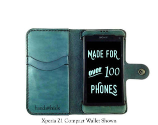 Xperia Z3 Compact Leather Wallet Case - Free Inscription - Hand and Hide LLC  - 1