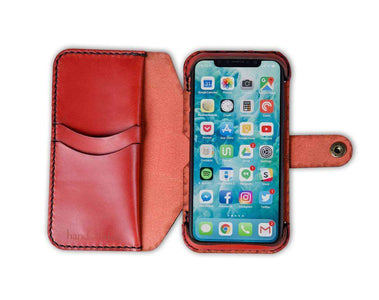 Hand and Hide iPhone XS Flex Phone Wallet Case in Red