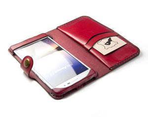innovative design 969e1 b1bd3 Huawei Honor 8 Custom Leather Wallet Case - Hand and Hide LLC