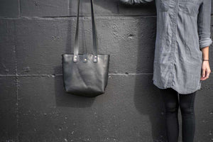 Distressed Leather Tote, Hand Stitched or Riveted Design - 3 Sizes