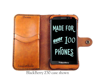 BlackBerry Leap Custom Wallet Case - Phone Wallet - Hand and Hide LLC