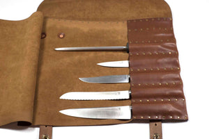 Chef Knife Roll - Free Inscription - Hand and Hide LLC  - 2