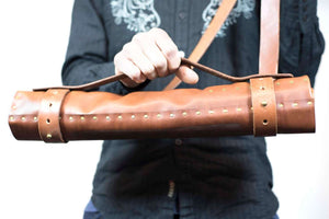 Hand and Hide leather Chef Knife Roll