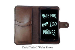 Motorola Droid Turbo Custom Wallet Case - Phone Wallet - Hand and Hide LLC
