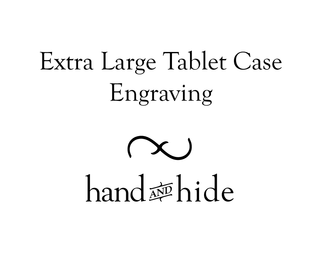 Stock or Custom Engraving for Extra Large Tablet Case