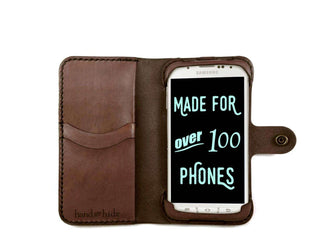 Galaxy S4 Active Leather Wallet Case - No Plastic - Free Inscription - Hand and Hide LLC  - 1