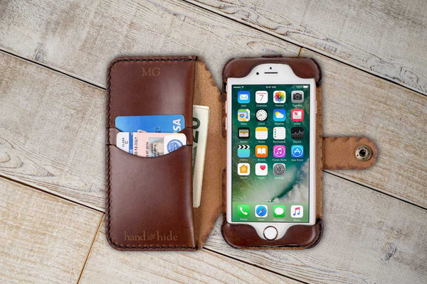 Hand and Hide leather Apple iPhone 8 Flex Wallet Case