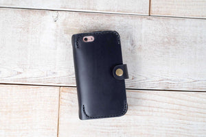 Dual iPhone 6 & iPhone 7 Leather Phone Case | Charcoal Black