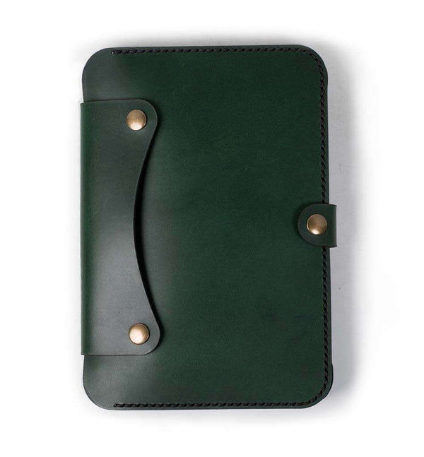 Hand and Hide leather iPad Mini 4 Flex Leather Tablet Case | Forest Green