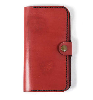 iPhone 6 Plus Leather Phone Case | Red