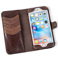 Hand and Hide iPhone 6 Plus Leather Phone Case | Milk Chocolate