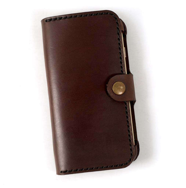 Hand and Hide iPhone 7 or 8 Leather Phone Case | Dark Chestnut