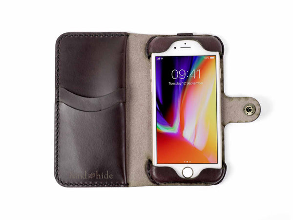 Hand and Hide leather Apple iPhone 8 Custom Wallet Case
