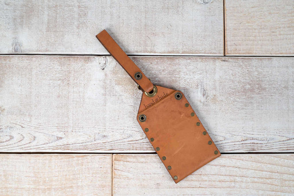 Hand and Hide leather Tan Luggage Tag | Sale