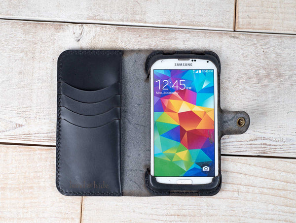Hand and Hide Samsung Galaxy S5 Leather Phone Case | Black