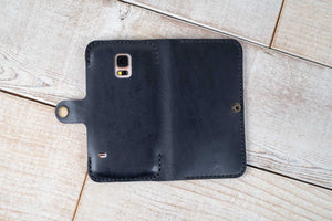 Samsung Galaxy S5 Leather Phone Case | Black