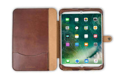Hand and Hide Flex Leather Tablet Case for iPad 9.7 in Chestnut