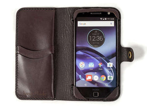 Moto Z, Z Force, Z Play Leather Phone Case | Dark Chocolate