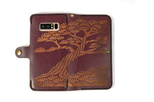 Samsung Note 8 Leather Phone Case | Merlot