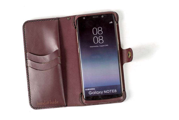 Hand and Hide Samsung Note 8 Leather Phone Case | Merlot