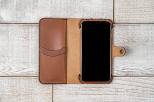 iPhone Xs Max Wallet Case | Chestnut