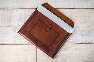 "Leather Laptop Sleeve 11"", 13"", and 15"" MacBook or Laptop Sleeve"