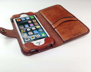iPod Touch 5th or 6th Gen Leather Wallet Case - Free Inscription - Hand and Hide LLC  - 2