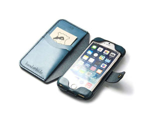 Convertible Leather Wallet for iPod Touch 5th or 6th Gen - Free Inscription - Hand and Hide LLC  - 1