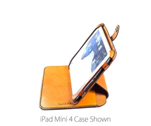 iPad Mini 1 / 2 / 3 All Leather Mult.e Case - Free Inscription - Hand and Hide LLC  - 1