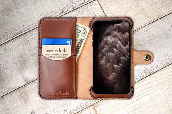 Hand and Hide leather Apple iPhone 11 Pro Max Custom Wallet Case