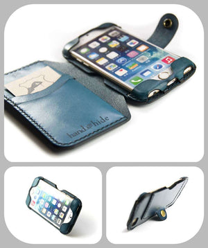 Convertible Leather Wallet for iPod Touch 5th or 6th Gen - Free Inscription - Hand and Hide LLC  - 2