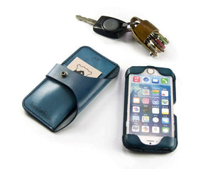 Convertible Leather Wallet for iPod Touch 5th or 6th Gen - Free Inscription - Hand and Hide LLC  - 3