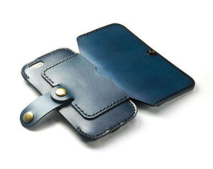 Convertible Leather Wallet for iPod Touch 5th or 6th Gen - Free Inscription - Hand and Hide LLC  - 4