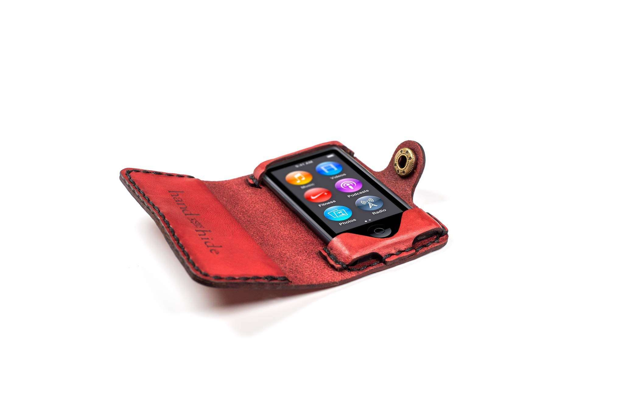 Custom Leather Case For Ipod Nano 7th Generation Hand And Hide Llc