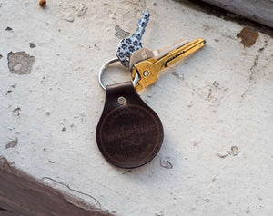 Leather Key Fob / Keychain - Travel - Hand and Hide LLC