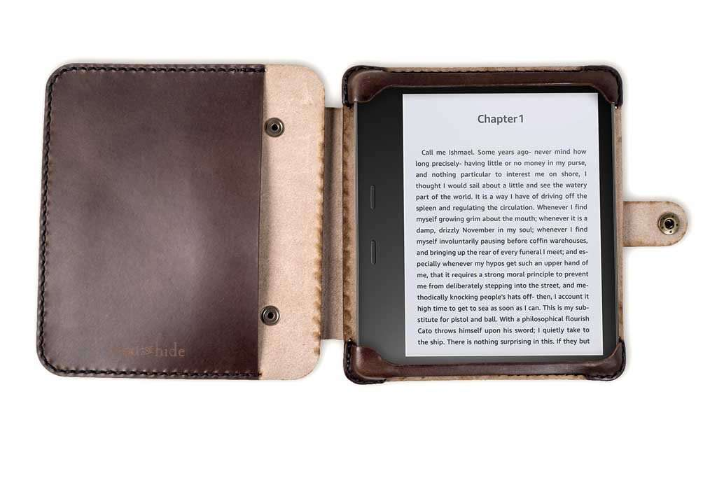Kindle 2 Case: Hand And Hide Handmade Leather Case For Kindle Oasis 2 In