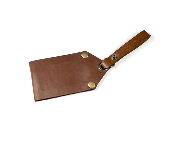 Hand and Hide Leather Luggage Tag