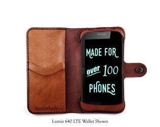 Microsoft Lumia 640 XL Custom Wallet Case - Phone Wallet - Hand and Hide LLC