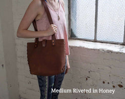 Hand and Hide Distressed Leather Tote, Hand